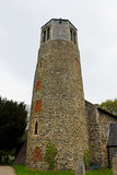 Round Tower of St. Mary`s Church, Surlingham, Norfolk Stock Images