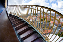 Round tower stairs Royalty Free Stock Images