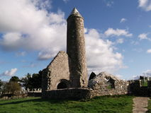 Round Tower. Taken in Clonmacnoise, round tower Royalty Free Stock Image