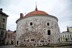 Round tower of Vyborg Royalty Free Stock Image