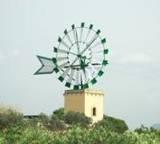 Round tower windmill. Stock Image