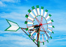 Round tower windmill. Royalty Free Stock Photography