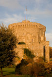 Round Tower at Windsor Castle. In autumn evening light stock photography