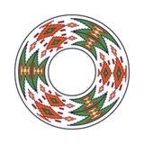 Round traditional Ukrainian ornament. Vector ethnic circular pixel pattern royalty free illustration