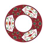 Round traditional Ukrainian ornament Royalty Free Stock Photos
