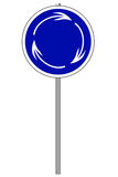 Round traffic sign Royalty Free Stock Image