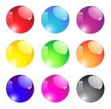 Round transparent aqua button Stock Image