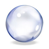 Round transparent button - indigo Stock Photo