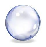 Round transparent button - indigo Stock Photo