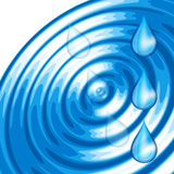 The round transparent drop of water Stock Images