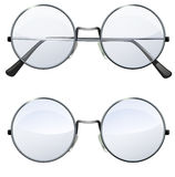 Round transparent glasses Royalty Free Stock Images
