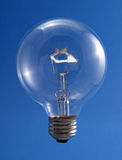Round Transparent Light Bulb Lit Royalty Free Stock Photos