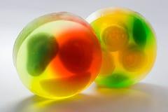 Round transparent soap bricks royalty free stock image