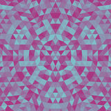 Round triangle kaleidoscope mandala background - symmetrical vector pattern design. Round geometric triangle kaleidoscope mandala background - symmetrical vector Stock Images