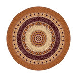 Round tribal. Vector round ornament tribal background Stock Photography