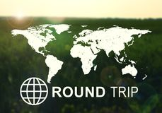 Round Trip header Stock Photography