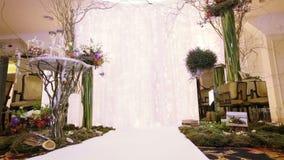 Round trip Wedding ceremony stock video footage