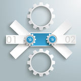 Round Triple Banner 2 Gears PiAd. Infographic design on the grey background. Eps 10  file Stock Photos