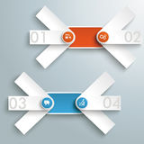 2 Round Triple Banners Colored Circles PiAd Royalty Free Stock Photography