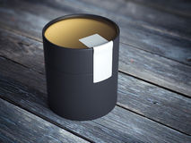 Round tube package. 3d rendering Stock Images