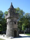 Round turret in a park. In Brussels Royalty Free Stock Photography