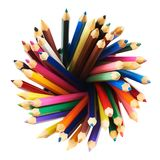 Round twirl of pencils Royalty Free Stock Image