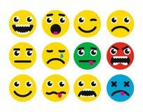 Round uśmiech ikona Fotografia Stock
