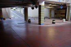 Round in underground parking Stock Photos