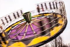 Round up ride spinning around royalty free stock photo