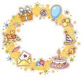 Round urodziny rama ilustracji