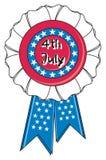 Round USA ribbon Royalty Free Stock Images