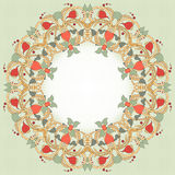 Round vector frame with floral ornament Stock Images