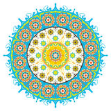 Round vector ornament. Royalty Free Stock Images