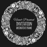 Round vintage decor. Vector template Stock Photography