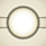 Round vintage frame. Stock Image