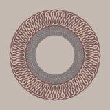 Round vintage frame for logos. Original weaving macrame. Stock Images