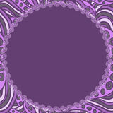 Round violet frame Royalty Free Stock Photography