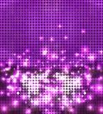 Round violet sparkling spots mosaic Stock Photos
