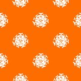 Round viral bacteria pattern seamless. Round viral bacteria pattern repeat seamless in orange color for any design. Vector geometric illustration Royalty Free Stock Photo