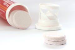 Round vitamin pills Stock Image