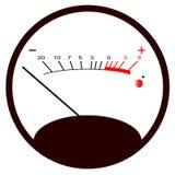 Round VU Meter No Signal royalty free illustration