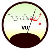 Round VU Meter Stock Photography