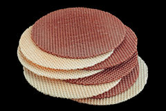 Round wafer blank cake Royalty Free Stock Images