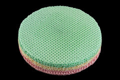Round wafer blank cake Stock Image
