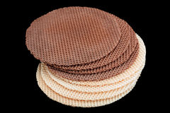 Round wafer blank cake Stock Photo