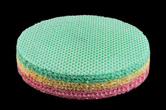 Round wafer blank cake Royalty Free Stock Photo