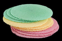 Round wafer blank cake Stock Images