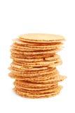 Round wafers Stock Photos