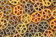 Round wagon wheel pasta Royalty Free Stock Image