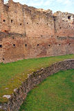 Round wall of ancient fortress Royalty Free Stock Images